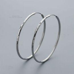 $enCountryForm.capitalKeyWord NZ - Fashion Earring Jewelry 925 Sterling Silver 50mm Women Faceted Design Earring