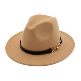 Nuovi cappelli invernali da autunno Cappelli per donna Uomo Leisure Unisex  Cappelli Fedora con fibbia per db47421817a
