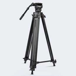 Professional Camcorder Tripods UK - High Quality WF718 Professional Heavy Duty Video Camcorder Tripod DSLR Camera Tripod with Fluid Head for Canon Nikon