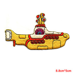 Wholesale The Beatles Brand Yellow Submarine Marine Sea Anchor Applique Iron on Patch for Cartoon Minioned Clothes Patches