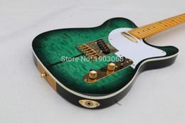 Custom rare online shopping - Custom Shop Merle Haggard Signature Tuff Dog TL Tele Caster Electric Guitar SUPER RARE Green burst Gold Hardware