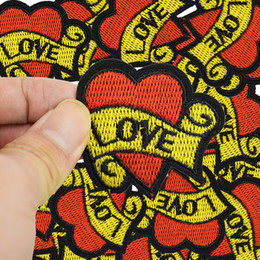 Love patches online shopping - Diy loves patches for clothing iron embroidered patch applique iron on patches sewing accessories badge stickers on clothes bag