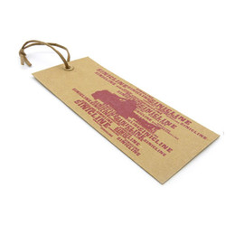 wholesale clothing for printing Canada - Kraft paper hang tags for clothing attached strings option Custom swing tags printing brown paperbaord 350g-1000g Hangtags for garment jeans