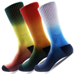 Fun Knee Socks Canada - 3-Pack Mens Colorful Knee High Long Athletic Football Basketball Sports Compression Sock Fun Casual Outdoor Tube Socks