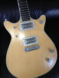 One piece guitar bOdy online shopping - Rare G6131MY Malcolm Young II Tribute Double Cutaway Solid Body Natural Electric Guitar Chrome Pickups Tuners One Piece Bride Tailpiece