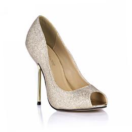$enCountryForm.capitalKeyWord Canada - CHMILE CHAU Spring Glitter Sexy Wedding Party Women Single Shoes Stiletto Iron High Heel Peep Toe Fashion Bridal Ball Ladies Pumps 3845-a6