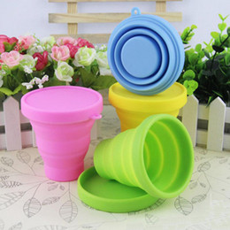 teeth mugs NZ - New Portable Silicone Retractable Folding Water Cup Collapsible Outdoor Travel Telescopic tooth glass Collapsible Soft Drinking Cup