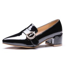 Fashionable low heels online shopping - Office lady working pumps with pointed and low square heel elegant fashionable neutrel style shoes S035