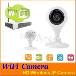 Android Wireless Hd Camera Canada - Wireless HD 720P WIFI IP Camera CCTV Security Baby Monitor IP Camera P2P for Home Security Mobile Preview Support IOS Android Cheapest 50pcs