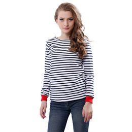 Discount Women's Black White Striped Tee Shirt | 2017 Women's ...
