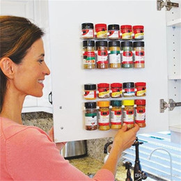 Clip shelf online shopping - Store Storage Rack Simple Bottle Clip Seasoning Jar Clutter Location Sundries Shelf Neat And Practical Kitchen Tool Top Quality tf R