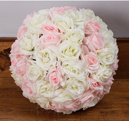 Silk rose flower kissing balls online silk rose flower kissing 30cm rose kissing balls for wedding silk flower ball decorative artificial flowers multi color options pomander balls kb 008 mightylinksfo Choice Image