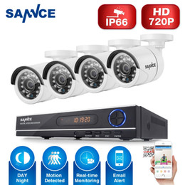 Wholesale cctv wireless camera wifi SANNCE CH P AHD DVR TVL IR Night Vision Outdoor CCTV Camera LEDs Home Security CCTV System