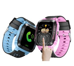 sos watch sim NZ - 1.44 inch Touch Kids Smart Watch with Camera SIM Calls Anti-lost SOS Wrist Watch Smart Bracelet for Children Girls Boys Finder S