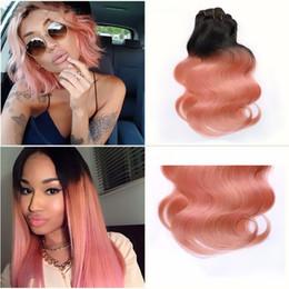 $enCountryForm.capitalKeyWord Canada - New Arrive 1B Rose Gold Hair 8A Ombre Peruvian Virgin Hair Body Wave Ombre Hair Extensions 3 Bundles Pervian Body Weave