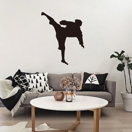 sports wall decor for boys room 2020 - Japan Karate Wall Stickers Home Decor Chinese Kungfu Sport Wallpaper Poster Boys Bedroom Wall Graphic Home Decorative Ap