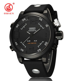 ohsen sports watches UK - 2017 NEW Ohsen brand digital quartz wristwatch men male 50M Swim outdoor sport electronic military White watch relojoes hombre