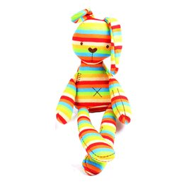 Discount baby comfort cloth - Wholesale- Baby Soft Rabbit Doll 40cm Large Rabbit Sleep Rattles Comfort Children's Cute Animal Plush Toys 0-5Year
