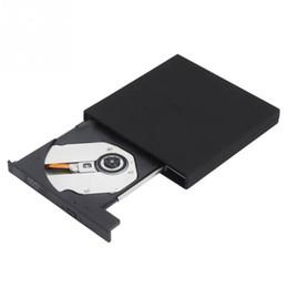 Ultra Slim Laptops Canada - Wholesale- Ultra Thin Portable USB 2.0 DVD CD DVD-Rom SATA External Case Slim Optical Optic Disc Drive Drives for For Laptop PC Wholesale