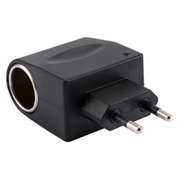 Dc Ac Car Converters NZ - Freeshipping 110-240V AC to 12V DC 500mA Car Cigarette Lighter Adapter Converter US EU Plug
