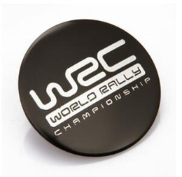 $enCountryForm.capitalKeyWord Canada - 4pcs Car Emblem Wheel Center Cover Caps Sticker Badges Emblems Aluminum Sticker For Spider-man WRC MS RS VXR