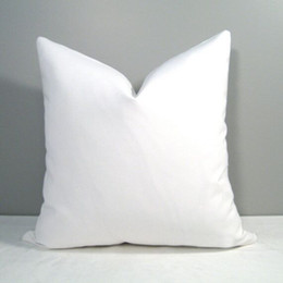 18x18 pillow cushion covers online shopping - 18x18 inches plain white blank cotton pillow case blank cotton pillow cover blank cotton canvas cushion cover
