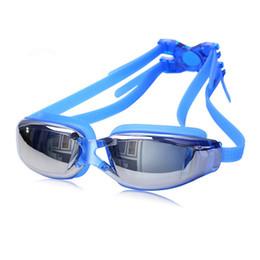 Vente en gros Marque New Professional lunettes de natation anti-buée UV réglable placage hommes femmes lunettes de silicone imperméables adultes Eyewea