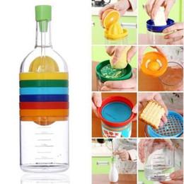unique plastic bottles 2019 - Unique 8 in 1 Kitchen Set Multipurpose Cooking Tools Gadgets Plastic Bin Bottle Fruit Vegetable Tools CCA6390 48pcs chea