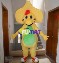 $enCountryForm.capitalKeyWord Canada - FUMAT Barney Costumes Yellow Dinosaur Mascot Costumes Adult Size Barney Cartoon Costume Dress For Christmas Carnival Party Customization