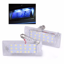 led number plate lights UK - 1Pair License Plate Light For BMW X5 E53 X3 E83 2003-2010 18 LED Bulbs Car Number Plate Lamp Car Styling Light Source