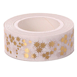 $enCountryForm.capitalKeyWord UK - Wholesale- 2016 High quality Gold foil 10m paper tape dot,strip,heart Christmas decorative washi tape 1pcsQ-25