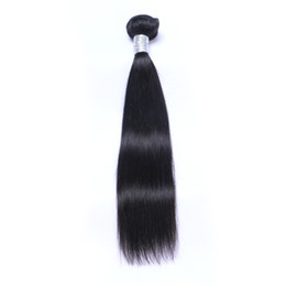 Discount hair can dyed bundles - Brazilian Virgin Human Hair Straight Unprocessed Remy Hair Weaves Double Wefts 100g Bundle 1bundle lot Can be Dyed Bleac