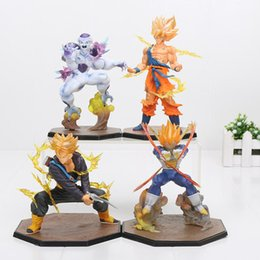 Chinese  Anime Dragon Ball Z Action Figures Super Saiyan Vegeta Battle Ver. 15CM Doll Collectible Figurine manufacturers
