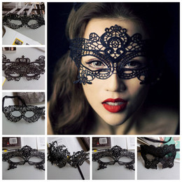 $enCountryForm.capitalKeyWord NZ - Mascaras Halloween Props Sexy Lace Party Masquerade Masks Venetian Costume Multi Patterns Black Lace Sexy Masquerade Masks