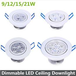 9 12 15 21 Watt Dimmbare Led Downlight Warmes Weißes Kühles Weiß Led  Deckenleuchte Einbau Licht Ac110 220 V Weiß Shell Spot Led Lampen