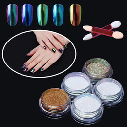 $enCountryForm.capitalKeyWord Canada - Professional Nail Art Metal Polish Chameleon Powder Color Manicure Mirror Chrome Effect Pigment Powder With Brush