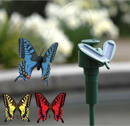 plastic hummingbird toy Canada - HOT New Solar Hummingbirds Butterflies Garden toys students enlightenment educational toys solar and battery combo.GIFT Simulation toys