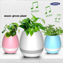 $enCountryForm.capitalKeyWord Australia - New Multifunctional Smart Mini Wireless Flower Pot Plastic Sensor Colorful Light Bluetooth Speaker Flowerpot Plant Pots Table Decoratio