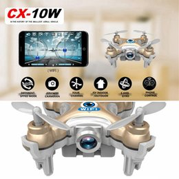 Helicopters Toys Camera Australia - FPV Drone With Camera Cheerson CX-10W Quadcopters Cx10w Rc Dron WIFI Camera Helicopter Remote Control Hexacopter Toys Copters