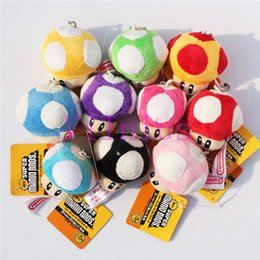 6cm plush Canada - 20pcs Mix Super Mario Bros Stuffed Dolls Mushroom Plush Toys 6CM Plush Toys Keychain Cellphone strap