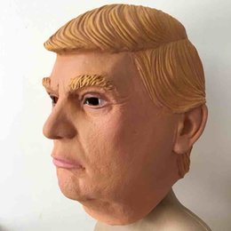 Costumes Donald Pas Cher-Etats-Unis Président Donald Trump Masque Latex Masque Visuel Donald Trump Costume Party Masque Marron Jaune 2 Couleurs