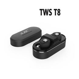 smart box t8 2019 - TWS T8 Bluetooth Earphones Mini Invisible True Wireless V4.1 Twins Double In Ear Headset with Smart Charging Box Stereo