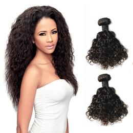 Bulk Hair Dye NZ - Shipping Free Can Be Dye 8A Natual Color Brazillian Peruvian Indian Malaysian Virgin Hair Natual Wave Brazilian Human Hair Weave Extensions