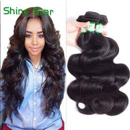 Peruvian Wavy Hair 12 Inches NZ - Brazilian Human Hair Body Wave 3 4pcs 100% Human Hair Extensions Wet And Wavy Peruvian Malaysian Indian Virgin Hair Bundles