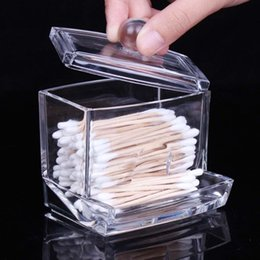 $enCountryForm.capitalKeyWord Canada - New Creative Clear Acrylic Storage Holder Box Transparent Cotton Swabs Stick Cosmetic Makeup Organizer Case High Quality