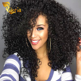 $enCountryForm.capitalKeyWord Australia - Deep Curly Brazilian Indian Malaysian Peruvian Mongolian Lace Front Human Hair Wigs With Baby Hair Pre Plucked Full Lace None Remy Hair Wig