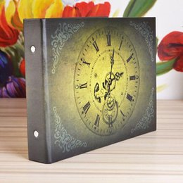 Vintage Clock 10 Inch Photo Album Wedding Photos Kids Family Memory Record Scrapbooking Handmade Sticky Type