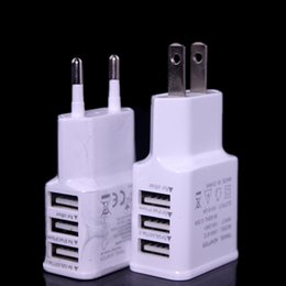 Universal travel adaptor Usb online shopping - 3 Usb ports US EU Ac home travel wall charger power adapter adaptor for samsung note s6 s7 for iphone plus htc mp3 mp4