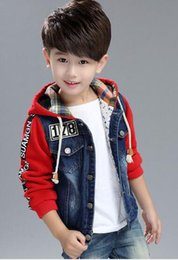 $enCountryForm.capitalKeyWord Canada - Kid's denim fabric fashion style jacket with knit hoodie and sleeve W17JS048