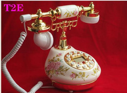 european telephone antique 2019 - Decoration Arts crafts home high-end jade antique business telephone European phone Model discount european telephone an